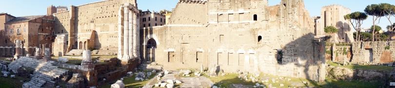 Scatto panoramico a Roma